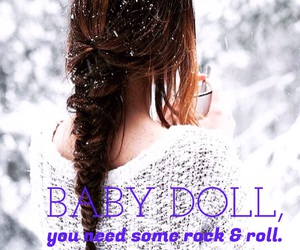 baby doll, braid, and easel image