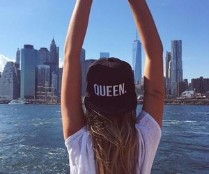 girl, Queen, and city image