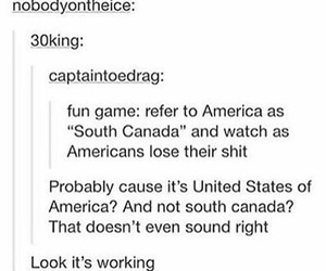 america, canada, and funny image