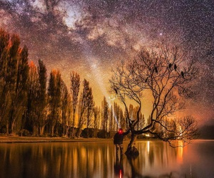 beautiful, stars, and landscape image