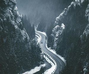 snow, mountains, and travel image