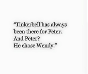 peter pan, tinkerbell, and wendy image