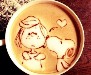 coffee, snoopy, and peanuts image