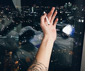 tattoo, cigarette, and city image