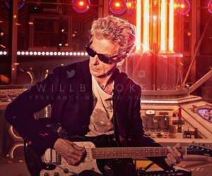 doctor who, guitar, and tardis image