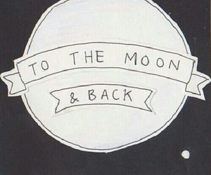 moon, love, and quote image