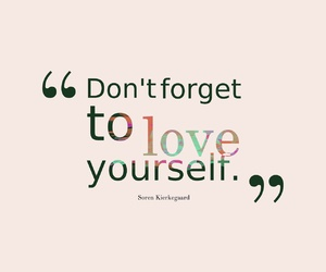 love, yourself, and quote image