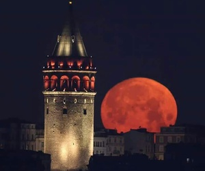 istanbul, moon, and night image