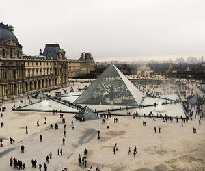 paris, louvre, and france image