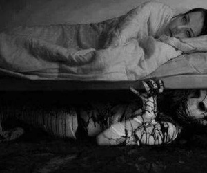 bed, creepy, and demon image