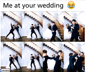 funny, wedding, and running man image