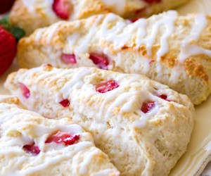 food, scones, and sweets image