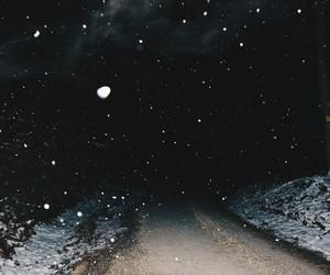 dark, grunge, and moon image
