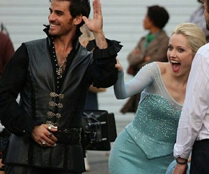 elsa, once upon a time, and captain hook image