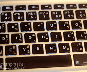 computer, letters, and mac image
