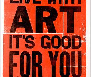 art, live, and text image