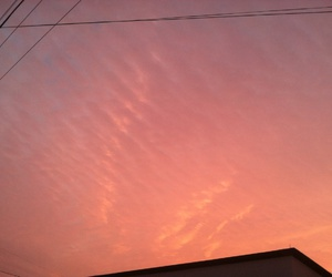 clouds, pink sky, and sunrise image