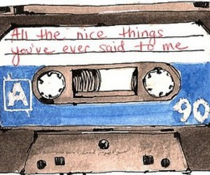 tape, nice, and words image