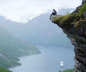 adventurous, geirangerfjord, and norway image
