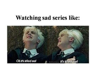 draco malfoy, series, and funny image