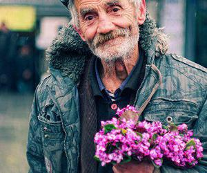 flowers, old, and old man image