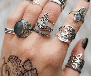 accessories, rings, and nails image