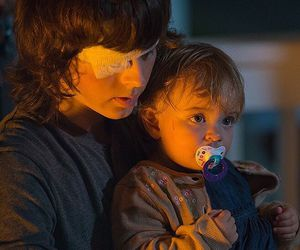 carl grimes, twd, and judith grimes image