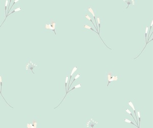 flowers, mint, and wallpaper image