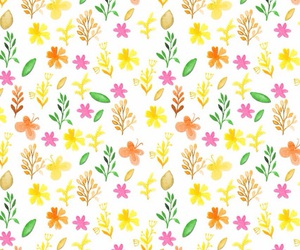 wallpaper, flowers, and fruit image