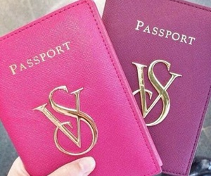 passport, pink, and Victoria's Secret image