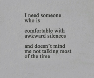 silence, quote, and awkward image