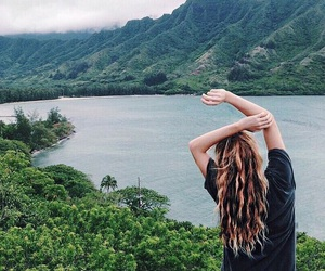 nature, girl, and hair image