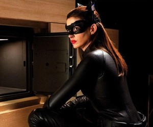 Anne Hathaway, batman, and catwoman image