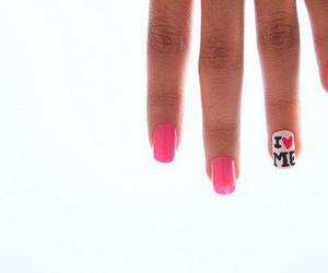 nails, ^^, and love image