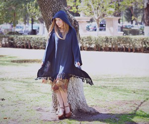 bohemian, cape, and outfit image