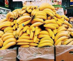 banana, yellow, and summer image