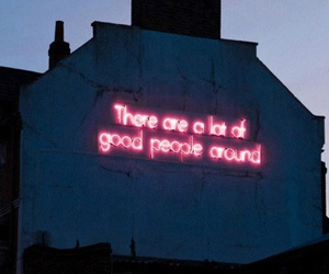 quotes, people, and neon image