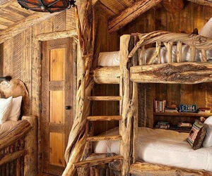 bedroom, wood, and home image