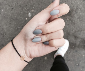 cold, grey, and nails image
