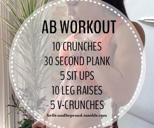 workout, fitness, and abs image