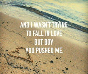 beach, fall in love, and heart image