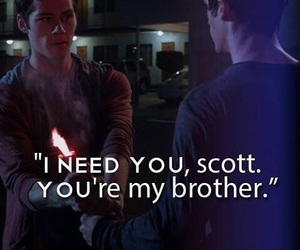 teen wolf, scott mccall, and brothers image