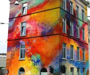 colors, house, and art image