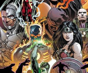 batman, flash, and justice league image