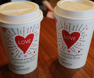 love, coffee, and drink image