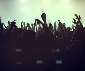 concert, hands, and party image