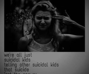 suicidal, sad, and suicide image