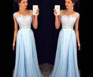 dress, Prom, and blue image
