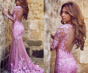 dress, pink, and prom dresses image