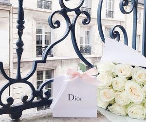 dior, flowers, and paris image